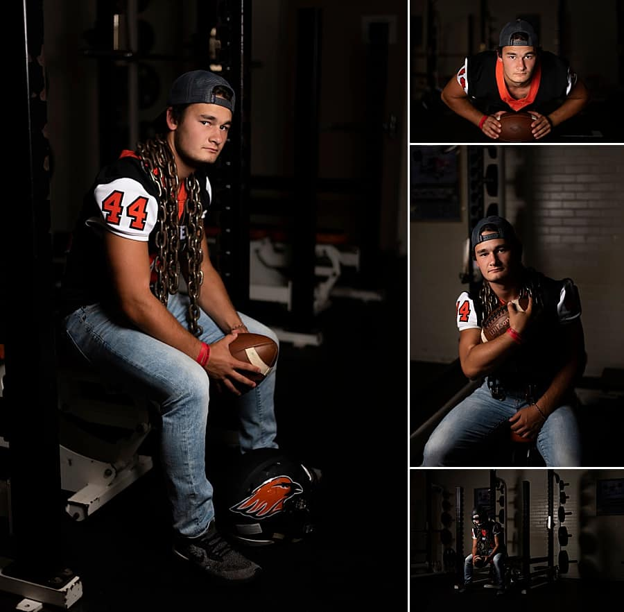 Hartford Union High School Senior Pictures at HUHS Weight Room in Hartford, Wisconsin
