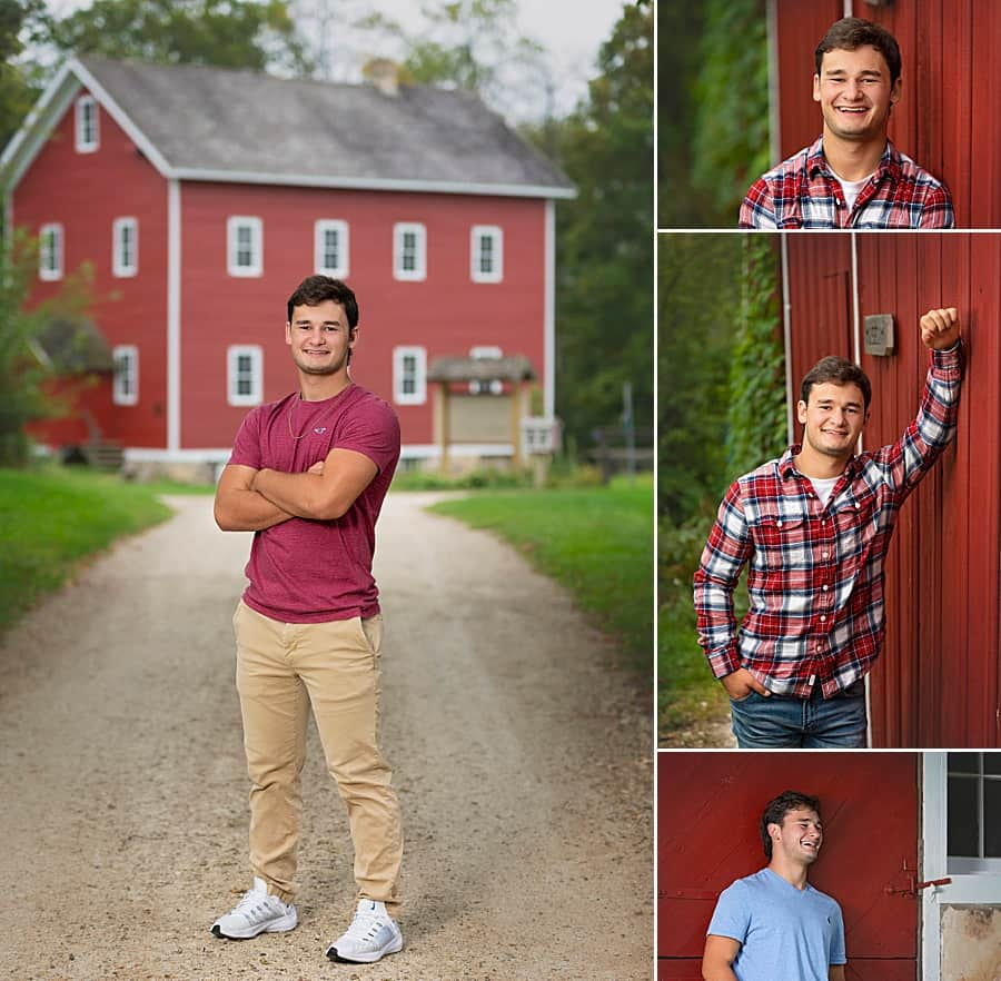 Hartford Union High School Senior Pictures at Richfield Historical Society in Hartford, Wisconsin