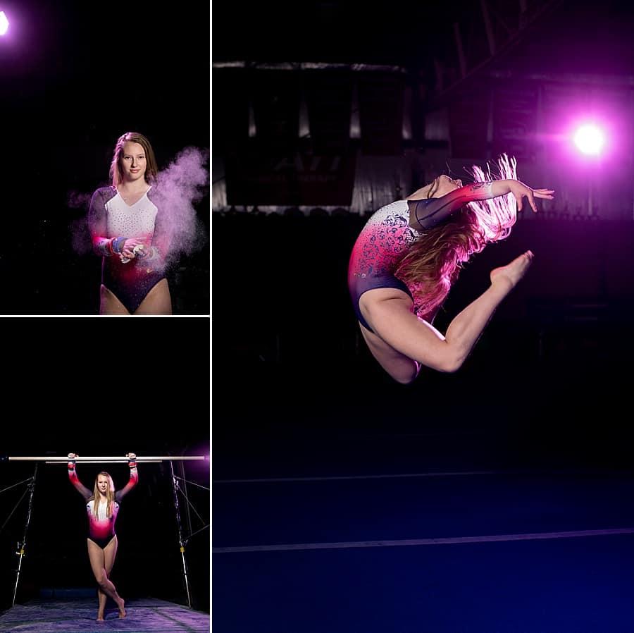 Salto Gymnastics Senior Pictures of Brookfield Academy Senior