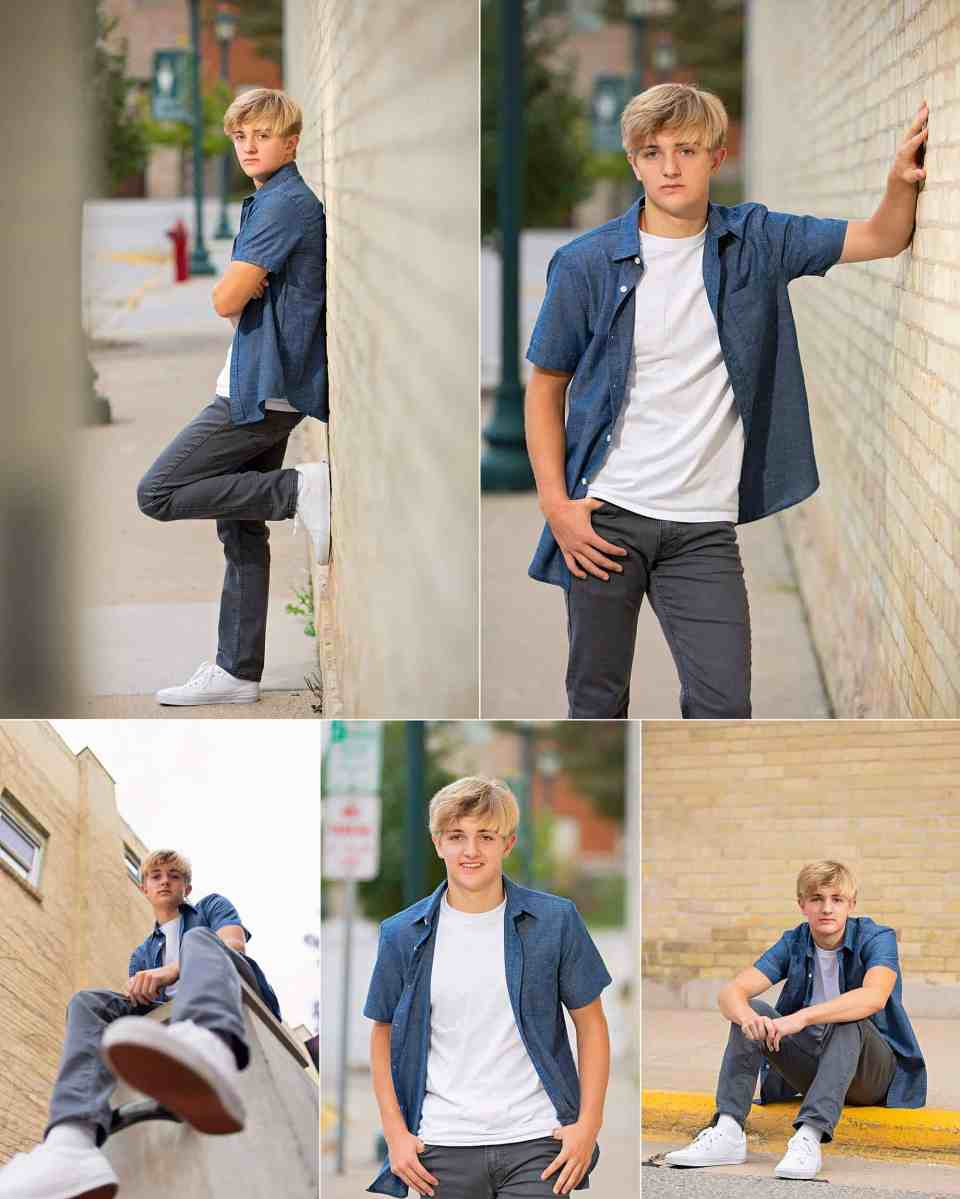 Senior Pictures in Downtown Hartford Wisconsin