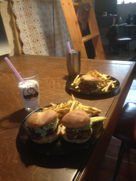 Burgers, shakes, and fries