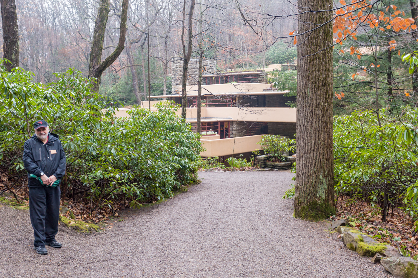 Tour guide Ken and a glimpse of Fallingwater