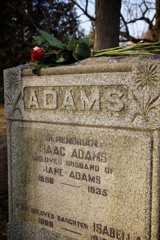 Isobel's family stone.  (c) Allyson Scott