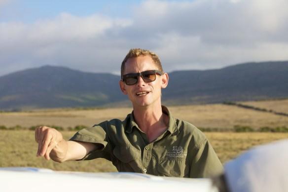 Head ranger Hannes educating his group  (c) Allyson Scott
