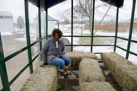 Jody on the hay ride