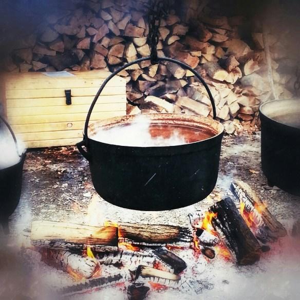 Cauldron of boiling sap