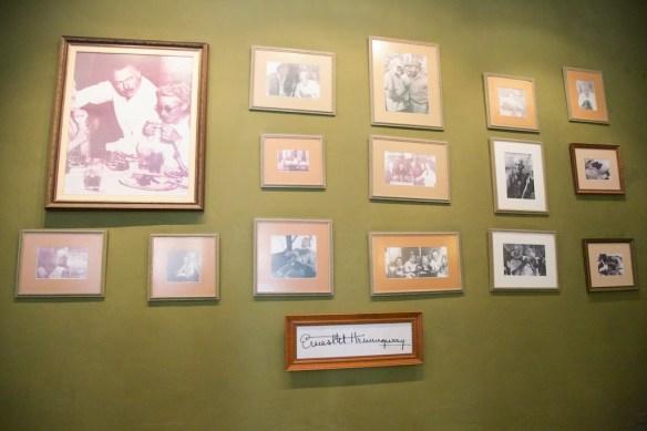 Hemingway wall in Hotel Ambos Mundos