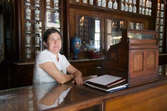 Clerk at Farmacia Taquechel, Havana