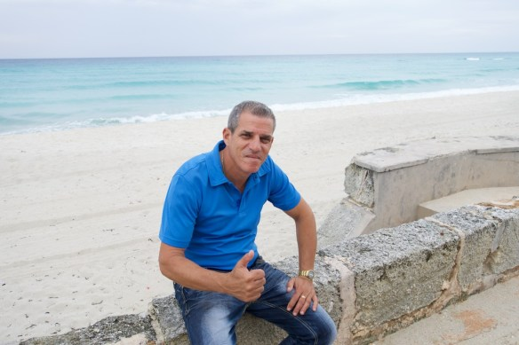 Humberto by the ocean
