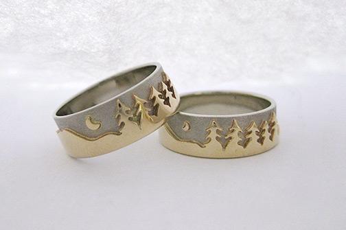 jewellery landscape rings treeline