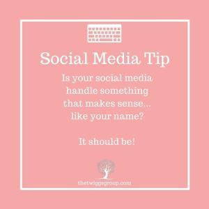 social media tip, handles
