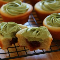 Ally Bakes Red Bean Green Tea Mochi Cupcakes