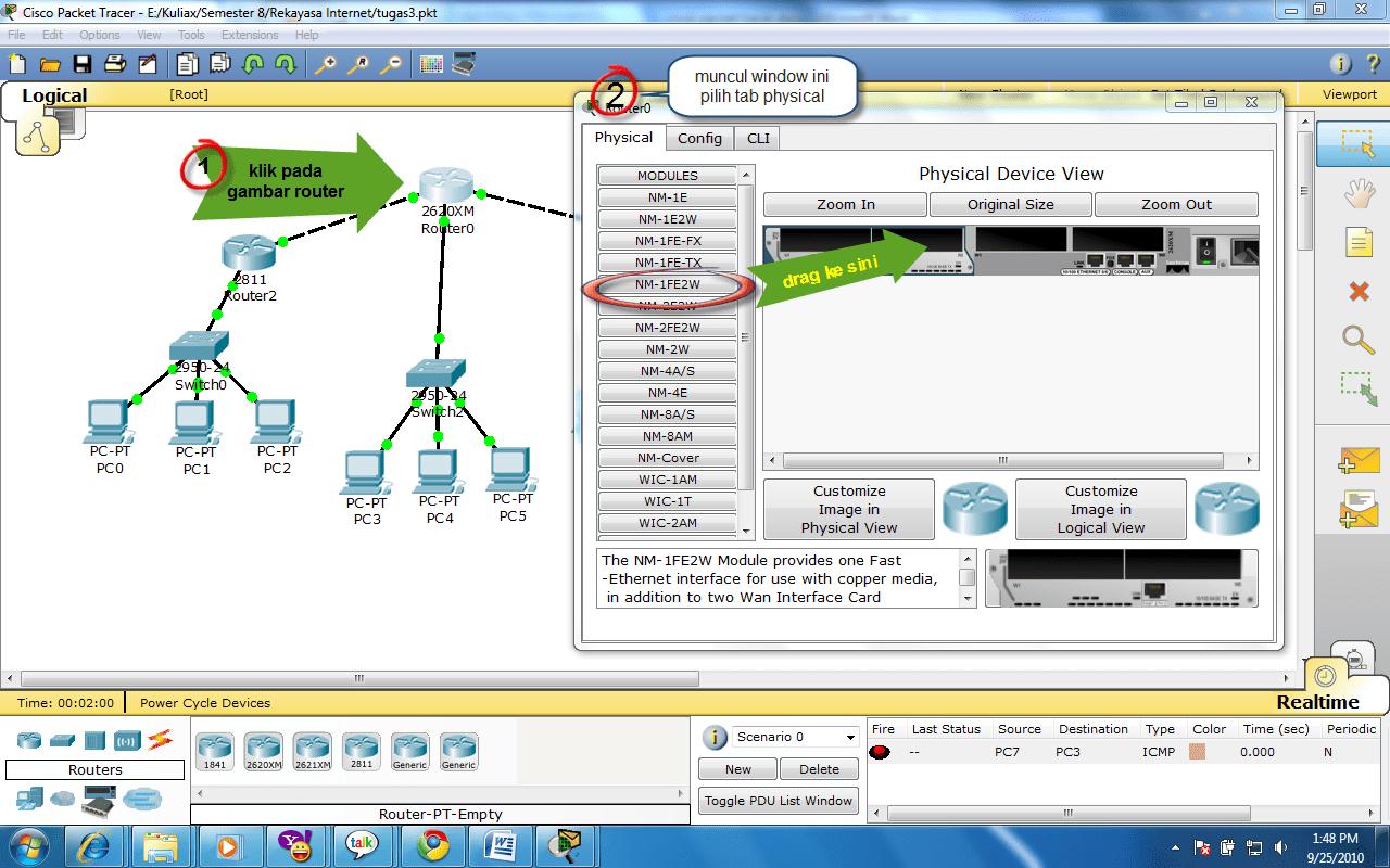Desain Jaringan Sederhana Dengan Cisco Packet Tracer