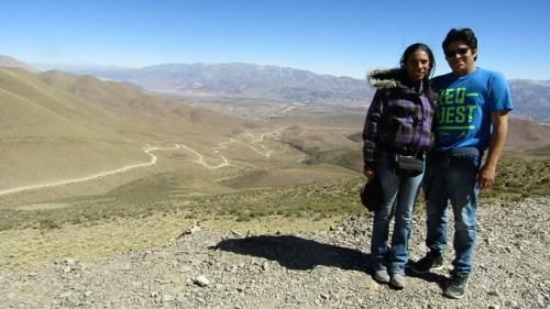Camino al Hornocal desde Humahuaca