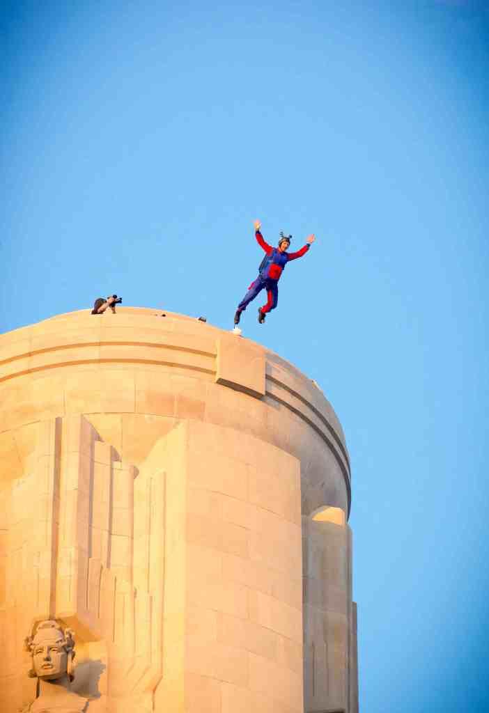 BASE Jump from World War One Liberty Memorial Museum