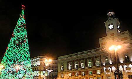 Boceto Puerta del Sol iluminada