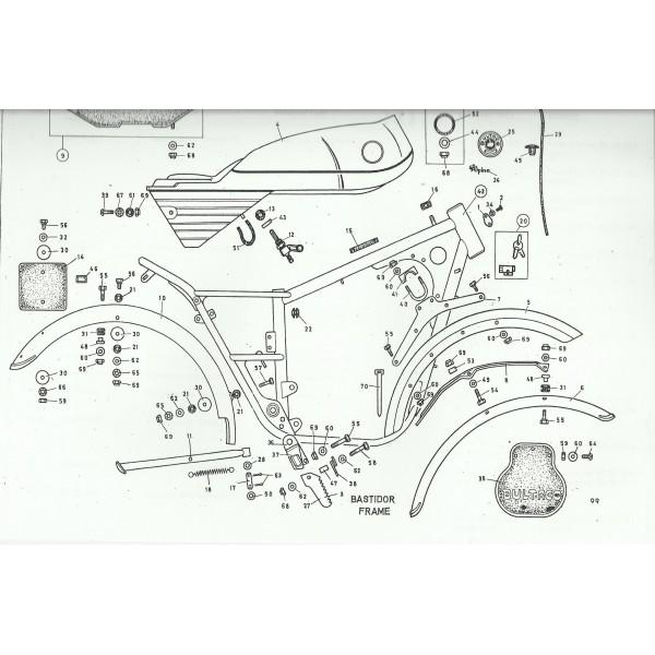 Manual de taller Bultaco Alpina mod 85. 97. 98. 99
