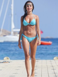 Catarina-Sikiniotis-Shows-Off-Her-Blue-Bikini-in-Greece-09