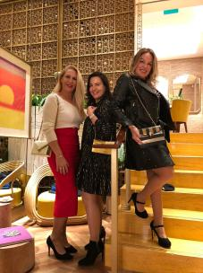 Consuelo Ginard, Ainara Quiroga y Paquita Calvin