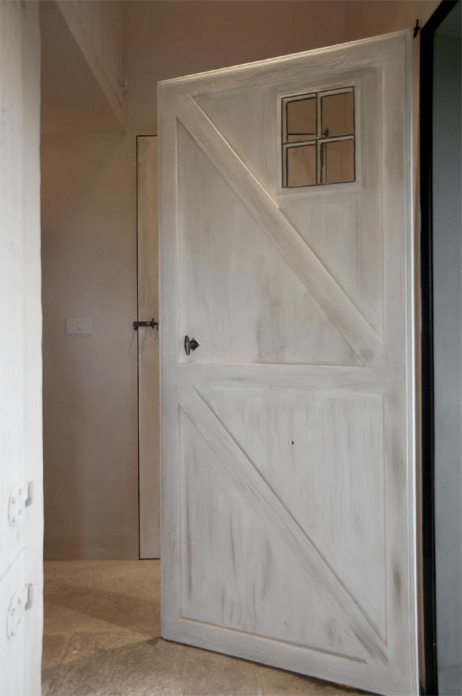 massieve eiken binnendeur open