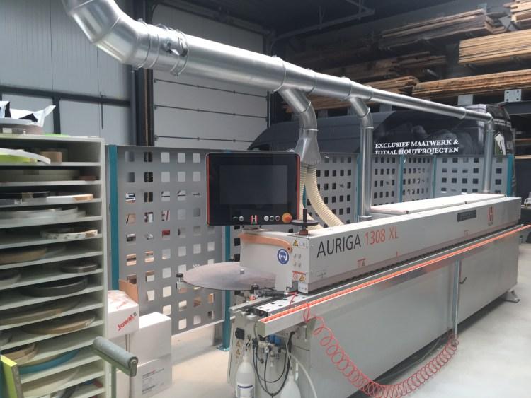 Onze HolzHer Auriga 1308 XL kantenlijm machine voor het aanbrengen van kantenbanden aan losse platen