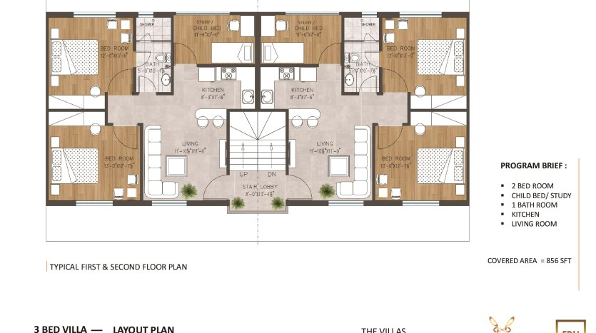 boutique villas 5 marla floor plan