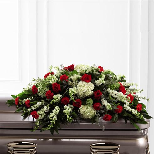Cubrecajón fúnebre