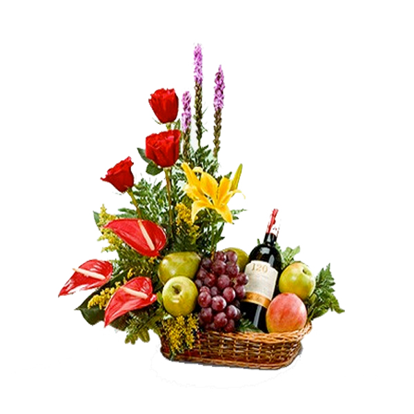 Canasta frutal red wine