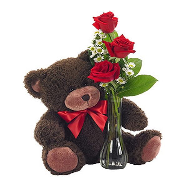 Bear Roses. Floristería ALMA FLORAL Bogotá