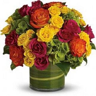 centro de mesa rosas 01 Floristeria Alma Floral
