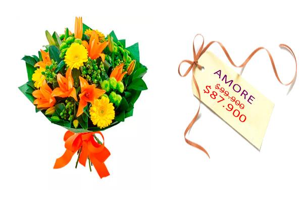 Amore. Bouquets con flores. Floristería ALMA FLORAL Bogotá