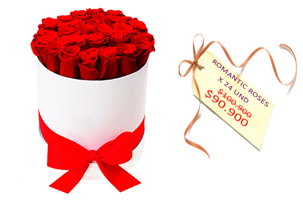 Romantic rosesx24 und. Floristería ALMA FLORAL Bogotá