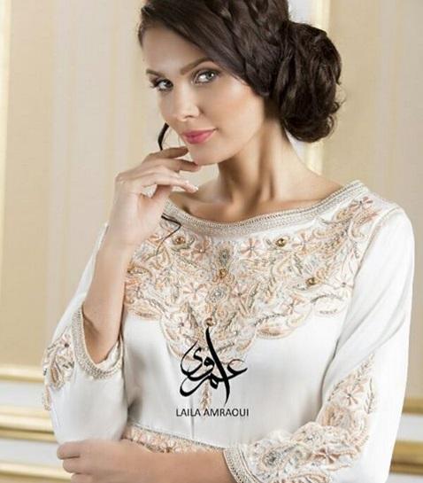 المغربية ليلى عمراوي تضيف لمسات خاصة للقفطان المغربي