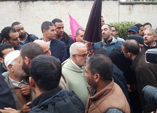 الحزن ببيت رئيس الحكومة عبد الإله ابن كيران + صور