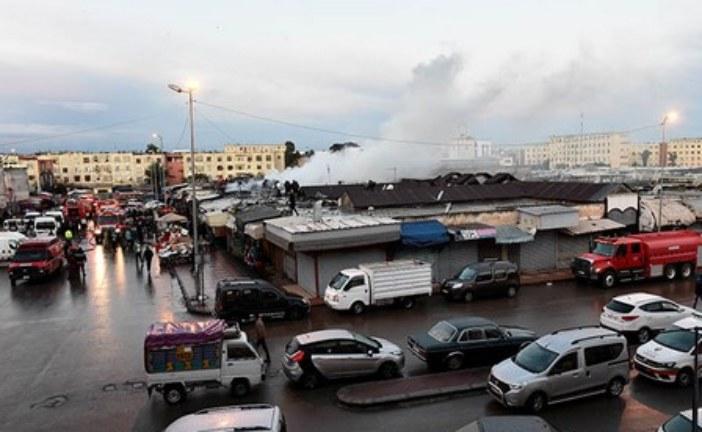 النيران تلتهم قيسارية الحي المحمدي بالدار البيضاء