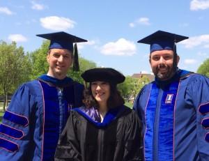 Alma, Tim Landry, Lance Larkin at UIUC Graduation, 5-18-14