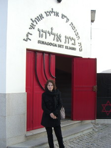 Alma in Front of Belmonte Synagogue