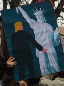 Poster, Trump Grabs Crotch of Statue of Liberty