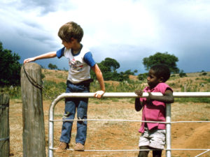 Colin & Sadiki Closing the Paddock Gate