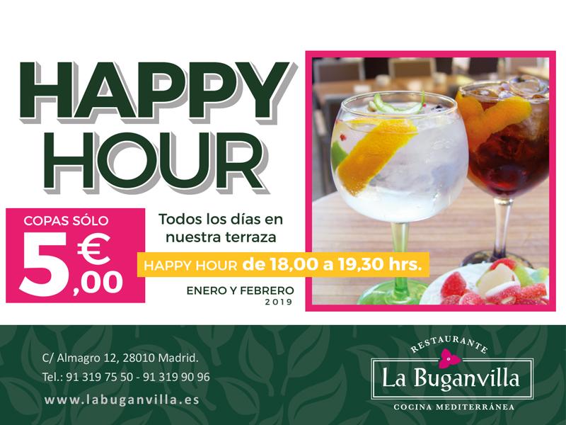Happy Hour en nuestra terraza  Restaurante La Buganvilla