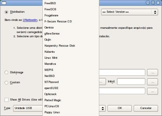 Usando o Unetbootin para criar um Pendrive inicializável. (4/6)
