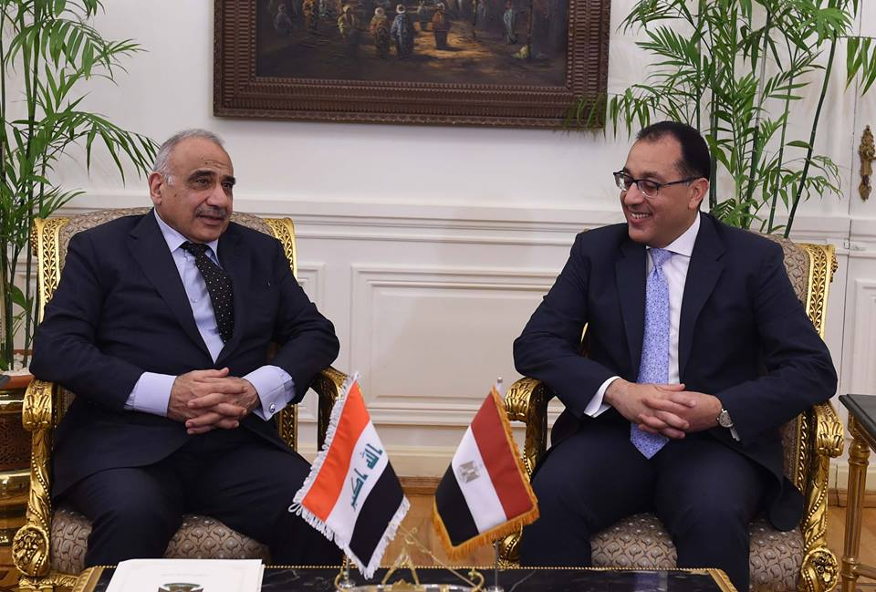 رئيس الوزراء المصري د. مصطفى مدبولي يلتقي نظيره العراقي عادل عبد المهدي
