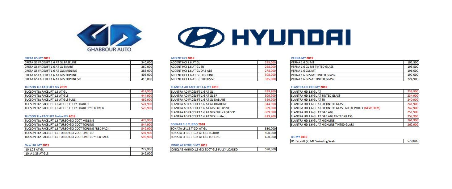 أسعار سيارات هيونداى