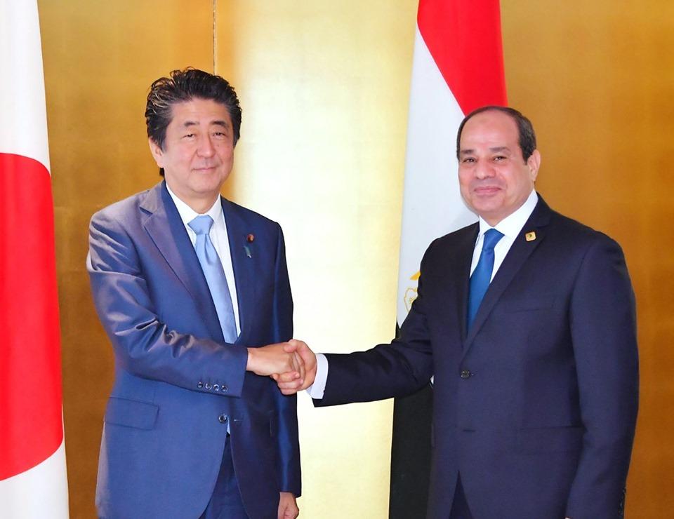 السيسى-ورئيس -الوزراء -اليابانى