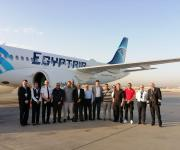 مصر للطيران تتسلم ثالث طائراتها من طراز 300-A220 (صور)