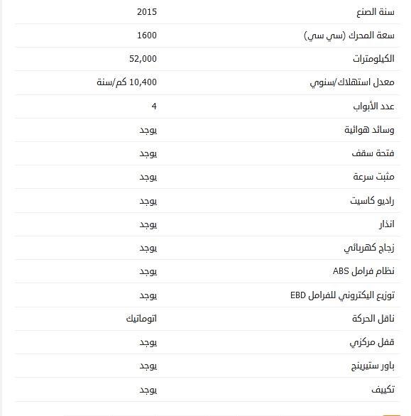 سعر مازدا 3 مستعملة 2015