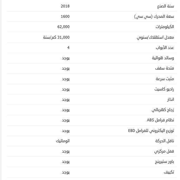 سعر سوبارو XV مستعملة 2018