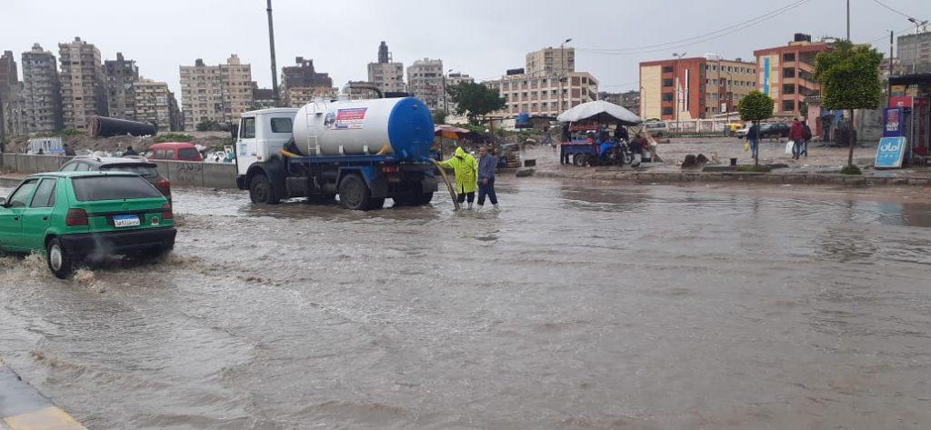 الأمطار بالإسكندرية