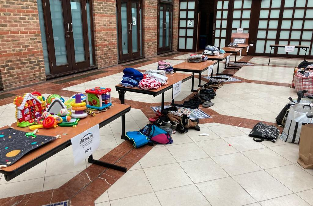 Sorting And Packing Donations for the newly arrived Afgan refugees.