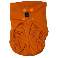 Orange tygblöja sett framifrån